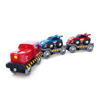 Race Car Transporter (Hape E3735) | LeVida Toys