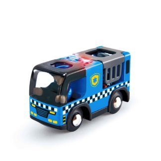 Police Car with Siren for Wooden Railway (Hape E3738) | LeVida Toys