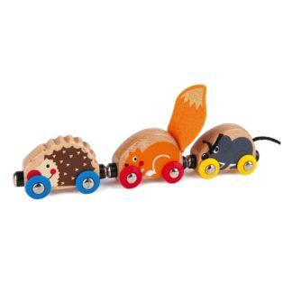 Tactile Animal Train for Wooden Railways (Hape E3817) | LeVida Toys