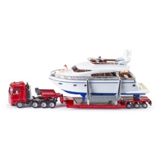 Low Loader Transporter with Yacht 1:87 (Siku 1849) | LeVida Toys