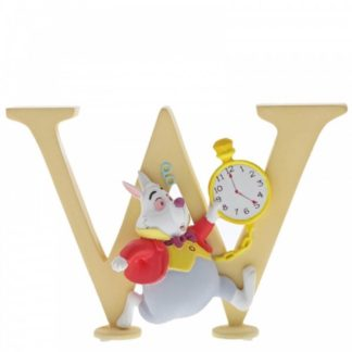 """W"" - White Rabbit - Disney Letter 