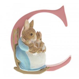 """C"" Mrs Rabbit and Bunnies - Peter Rabbit Letter   LeVida Toys"