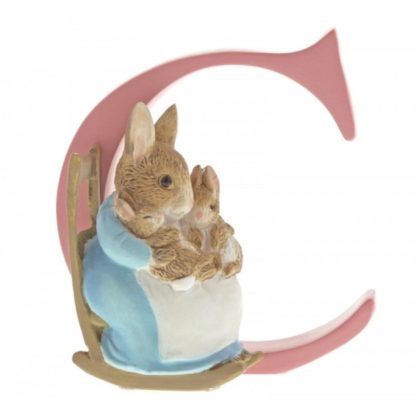 """C"" Mrs Rabbit and Bunnies - Peter Rabbit Letter 