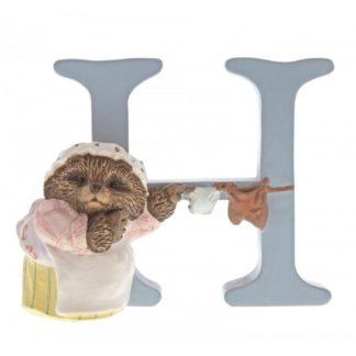 """H"" Mrs Tiggy-winkle - Peter Rabbit Letter | LeVida Toys"