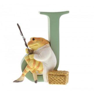 """J"" Mr Jeremy Fisher - Peter Rabbit Letter   LeVida Toys"