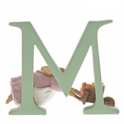 """M"" Cecily Parsley - Peter Rabbit Letter | LeVida Toys"
