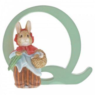 """Q"" Mrs Rabbit - Peter Rabbit Letter | LeVida Toys"