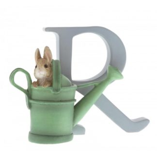 """R"" - Peter Rabbit in Watering Can letter"