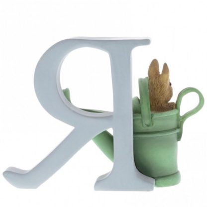 """R"" - Peter Rabbit in WateringCan letter"