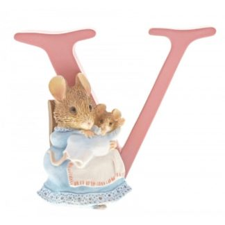 """V"" Hunca Munca and Baby - Peter Rabbit Letter 