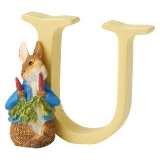 """U"" Reter Rabbit with Radishes - Peter Rabbit Letter   LeVida Toys"