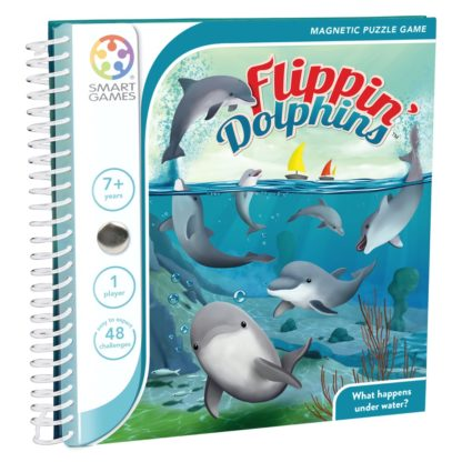 Smart Games Flippin' Dolphins - Magnetic Puzzle Game | LeVida Toys