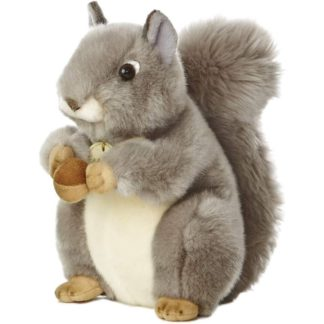 MiYoni Grey Squirrel 10 Inch soft toy by Aurora | LeVida Toys