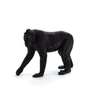 Black Crested Macaque (Animal Planet 387182) | LeVida Toys