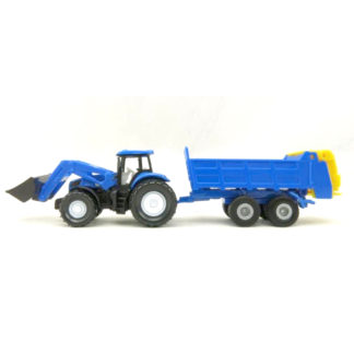 Siku New Holland with Front Loader and Trailer Miniature Die Cast (Siku 1630) | LeVida Toys