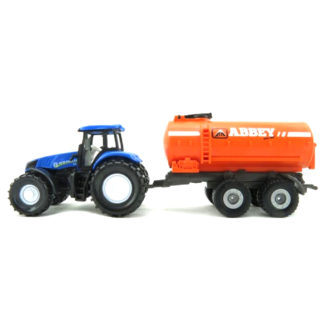 New Holland T8 390 Tractor with Abbey Vacuum Tanker Trailer Miniature Die Cast (Siku 1642)