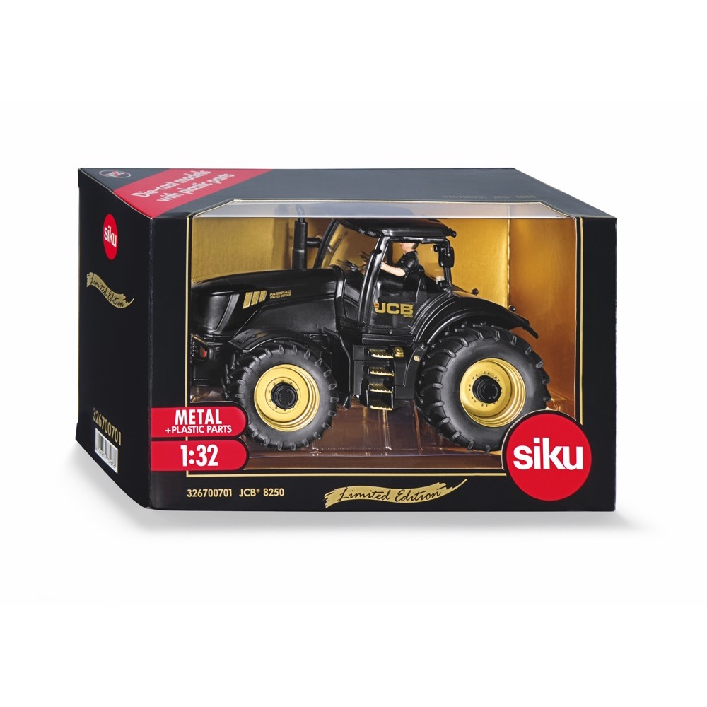 Gold JCB 8250 Tractor with Driver 1:32 (Siku 3267) | LeVida Toys