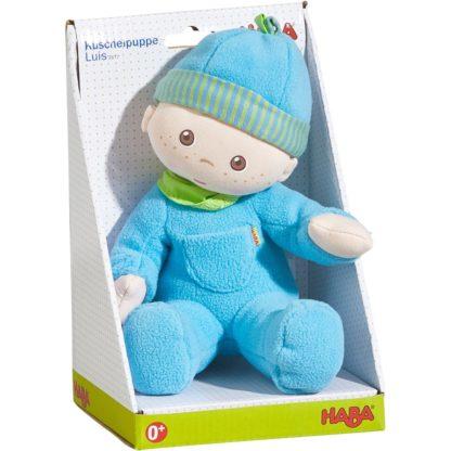 Fabric Luis Snug-Up Doll by Haba (002617) | LeVida Toys
