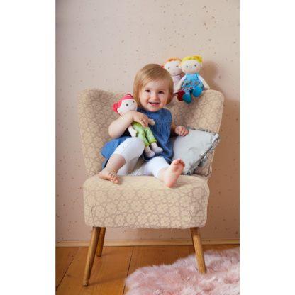 Fabric Dorothea Snug-Up Doll by Haba (303732) | LeVida Toys