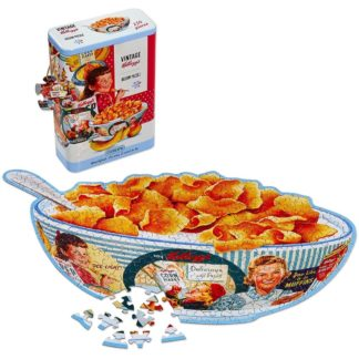 Vintage Kellogg's Shaped Jigsaw Puzzle in a Tin (250 Pieces) | LeVida Toys
