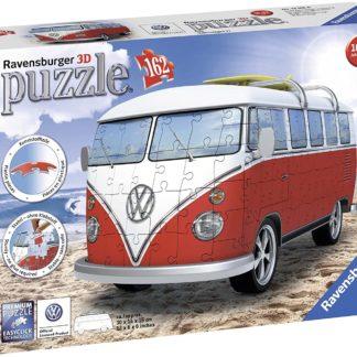 VW T1 Campervan 3D Jigsaw Puzzle (162 Pieces) | LeVida Toys