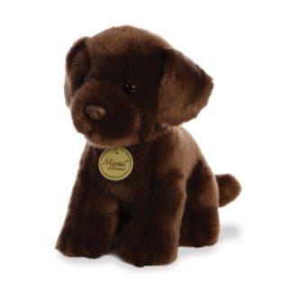 MiYoni Chocolate Labrador 11 Inch soft toy by Aurora | LeVida Toys