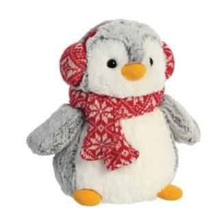Pom Pom Penguin with Earmuffs 9 Inch Soft Toy | LeVida Toys