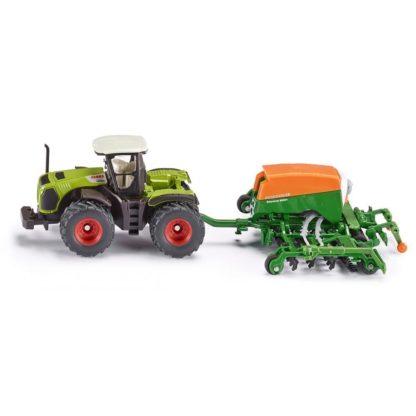Siku Claas Xerion tractor with Amazone Seeder (1826)   LeVida Toys