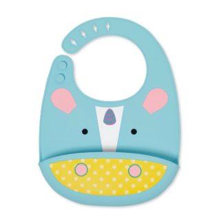 Zoo Fold & Go Silicone Bib: Eureka Unicorn | LeVida Toys