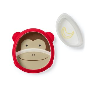 Skip Hop - Zoo Smart Serve Plate & Bowl: Marshall Monkey | LeVida Toys