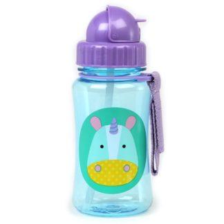 Skip Hop - Zoo Straw Bottle: Eureka Unicorn | LeVida Toys