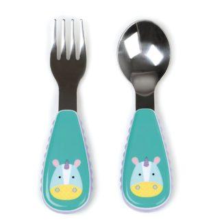 Skip Hop - Zootensils Fork & Spoon: Eureka Unicorn | LeVida Toys