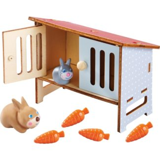 Haba Little Friends - Rabbit Mimi and Rabbit Hutch | LeVida Toys