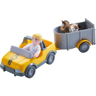 Haba Little Friends - Vet Car wth Trailer | LeVida Toys