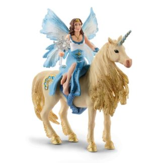 Bayala - Eyela Riding On Golden Unicorn (Schleich 4508) | LeVida Toys