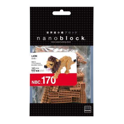 Nanoblock Mini Collection Lion (NBC-170) | LeVida Toys