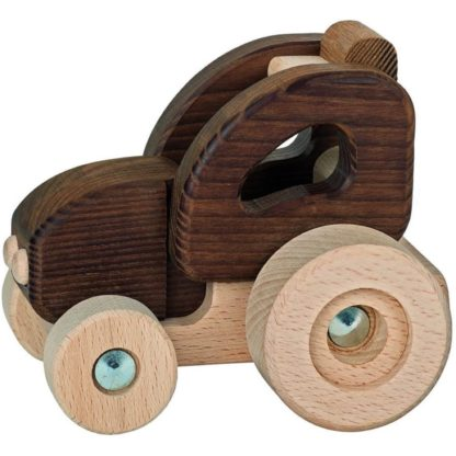 Goki Nature Tractor - Natural Wooden Toy (55911) | LeVida Toys