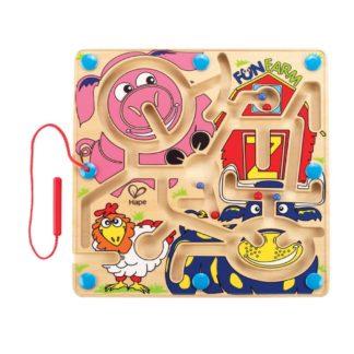 Hape Fun Farm - Magnetic Marble Puzzle (E1702) | LeVida Toys