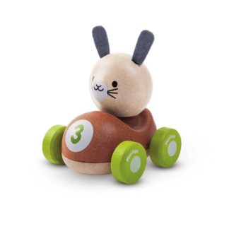 Plan Toys Bunny Racer push along wooden car | LeVida Toys