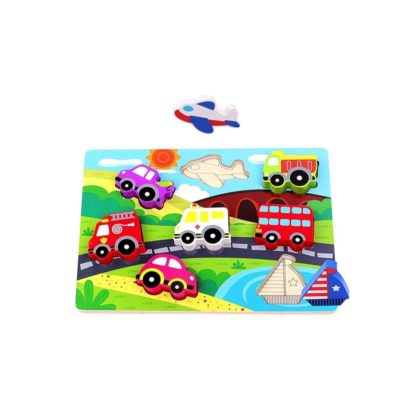 Wooden Transport Chunky Puzzle by Tooky Toys | LeVida Toys