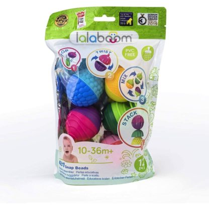 Lalaboom 4 in 1 Snap Beads (12 Pieces) | LeVida Toys