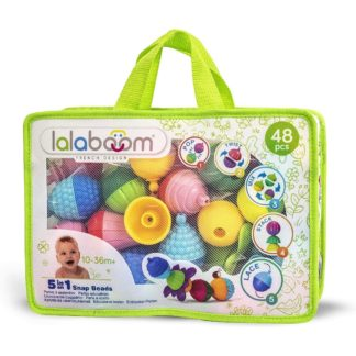 Lalaboom Zippered Tote Set (48 Pieces) | LeVida Toys
