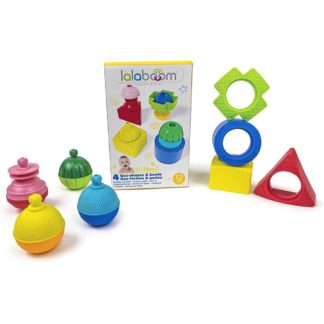 Lalaboom 4 Shapes & 4 Beads (12 Pieces) | LeVida Toys