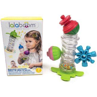 Lalaboom Rainstick & Beads (9 Pieces) | LeVida Toys