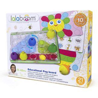 Lalaboom Educational Peg Board (21 Pieces) | LeVida Toys