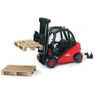 Bruder Linde H30D Fork Lift with Pallets (02511) | LeVida Toys