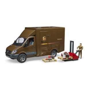 Bruder UPS Mercedes Benz Sprinter with Driver and Accessories (02538)
