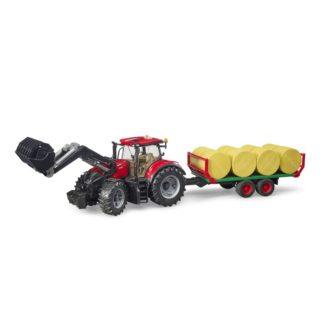 Bruder Case IH Optum 300CVX and Bale Transport Trailer | LeVida Toys