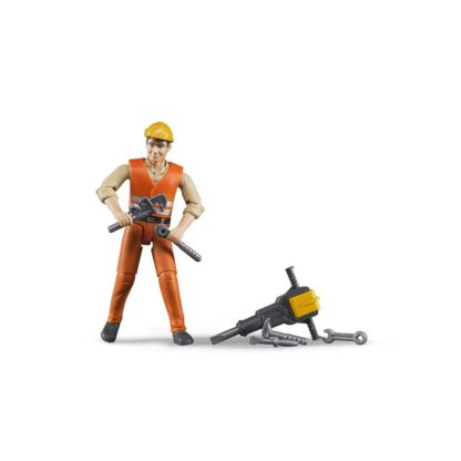 Bruder Construction Worker with Accessories (60020) | LeVida Toys