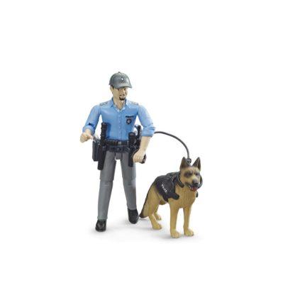 Bruder bWorld Policeman with Dog (65150) | LeVida Toys